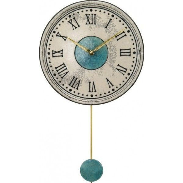 Antonio Zaccarella アントニオ ザッカレラ インテリア クロック 飾り振子付掛時計 イタリア製陶器枠 ザッカレラZ121 ZC121-003