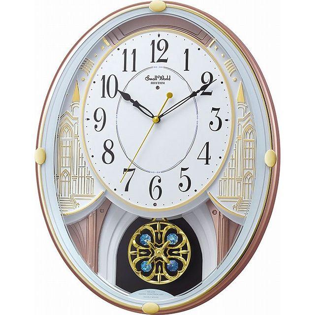 CITIZEN シチズン リズム時計工業 RHYTHM クロック からくり時計 スモールワールドエクラ 18曲入り 白色 4MN548RH03