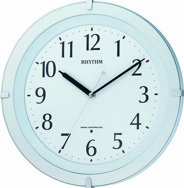 CITIZEN シチズン RHYTHM クロックリズム時計 夜間自動点灯・連続秒針電波掛時計 リバライトF460SR 白色 8MY460SR03