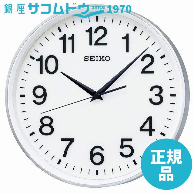 SEIKO CLOCK セイコー クロック 掛け時計 衛星 電波 アナログ 銀色 メタリック GP217S SEIKO [4517228039041-GP217S]