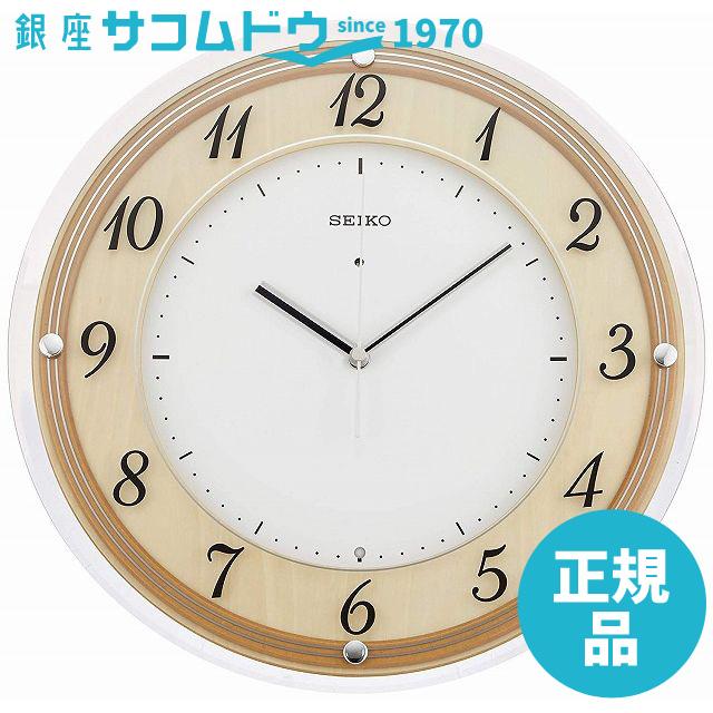 【3000円以上のお買いものでポイント3倍母の日特集7日(木)09:59迄】SEIKO CLOCK セイコー クロック 時計 インテリア木枠電波掛時計(木地天然色)丸 KX321A