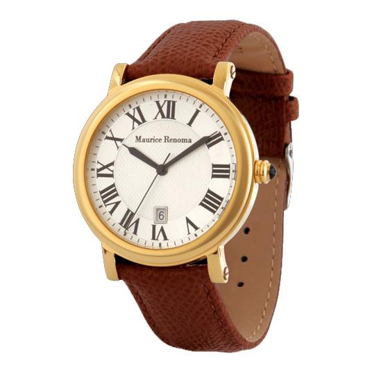 [モーリスレノマ]Maurice Renoma 腕時計 ラヴァル アナログ表示 3気圧防水 日付付き ゴールド MR-1405 GOLD メンズ