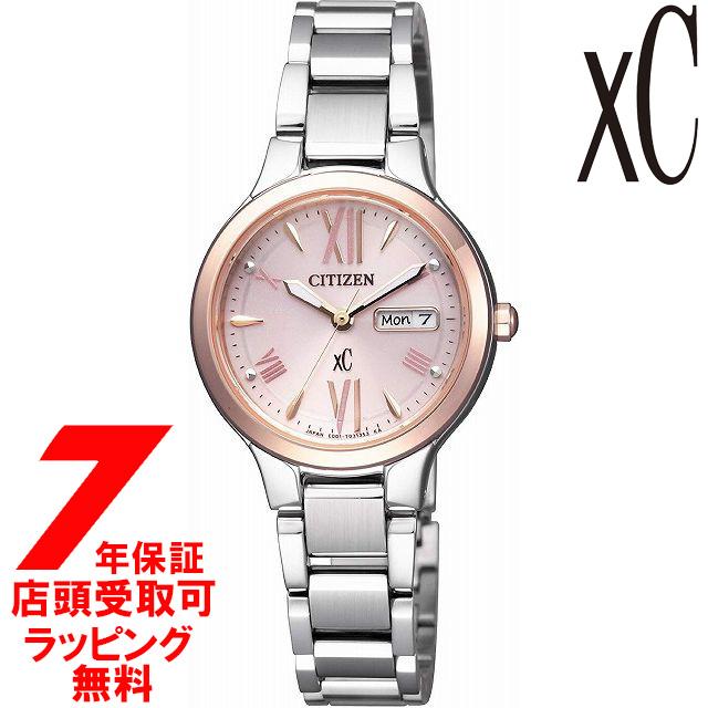 【店頭受取対応商品】【ノベルティ付き】[7年保証] シチズン CITIZEN 腕時計 xC クロスシー EW3224-53W ウォッチ Eco-Drive エコ・ドライブ デイデイト レディース