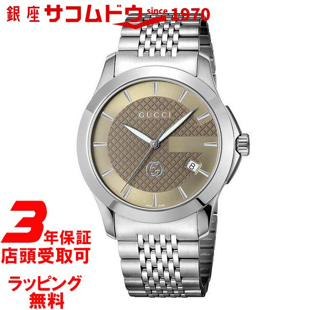 【店頭受取対応商品】[3年保証][グッチ]GUCCI 腕時計 グッチ YA1264107 腕時計 Gタイムレス ブラウン [並行輸入品]