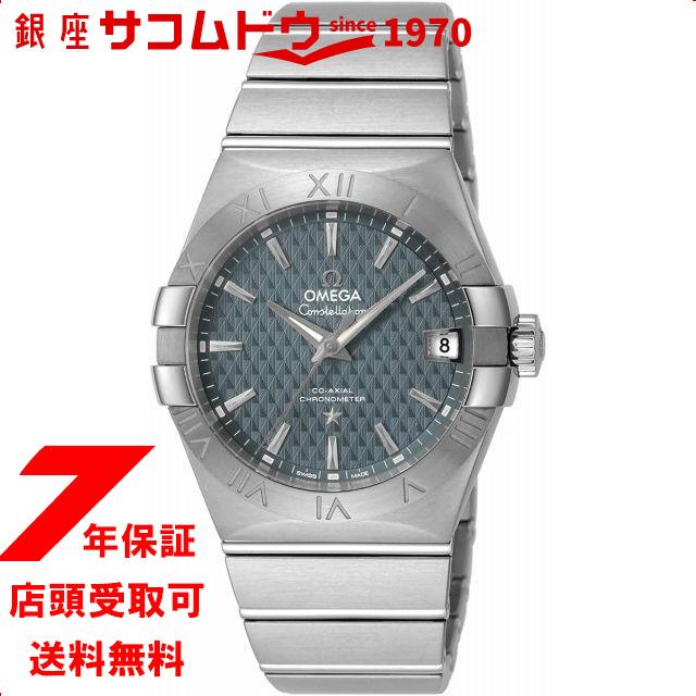[オメガ] 腕時計 Constellation ブルー文字盤 コーアクシャル自動巻 シースルーケースバック 123.10.38.21.03.001 メンズ 並行輸入品 シルバー