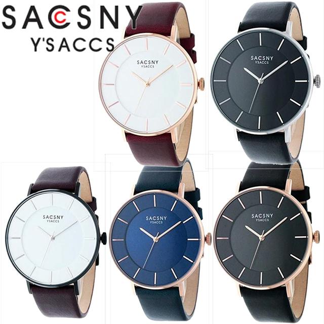 SACCSNY Y'SACCS サクスニーイザック 腕時計 SYA15143S-BK SYA15143B-WH SYA15143R-BK SYA15143R-WH SYA15143R-BL