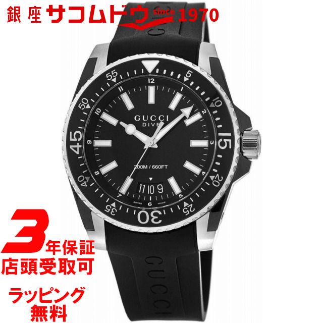 【店頭受取対応商品】[グッチ]GUCCI DIVE グッチ ダイヴ XL メンズ 腕時計 クォーツ YA136204A