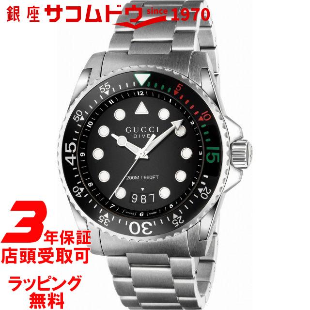 【店頭受取対応商品】グッチ ダイヴ 腕時計 メンズ GUCCI YA136208A