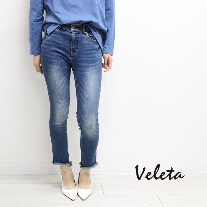【SALE/セール】【20%OFF】Veleta ヴェレタ ヘムカットデニム (85296021) デニム 【送料無料】【あす楽】【B】