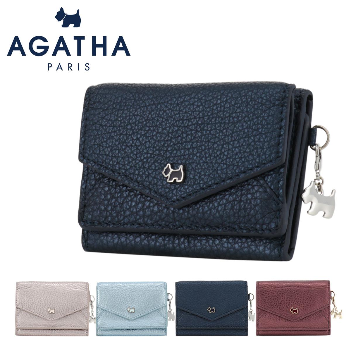 アガタ パリ 三つ折り財布 ミニ財布 ヴェルニメタリック レディース 13065 AGATHA PARIS | 本革 レザー