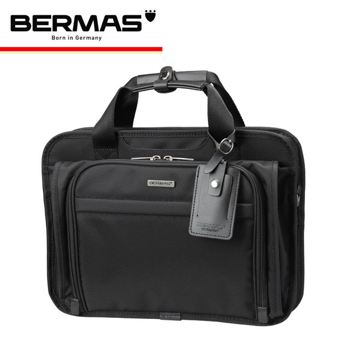 バーマス バッグ ビジネス 2WAY A4 メンズ 60431 ブリーフケース フロントポケット 撥水 防汚 拡張 キャリーオン ファンクションギアプラス BERMAS ブラック [1年保証][PO10][bef]