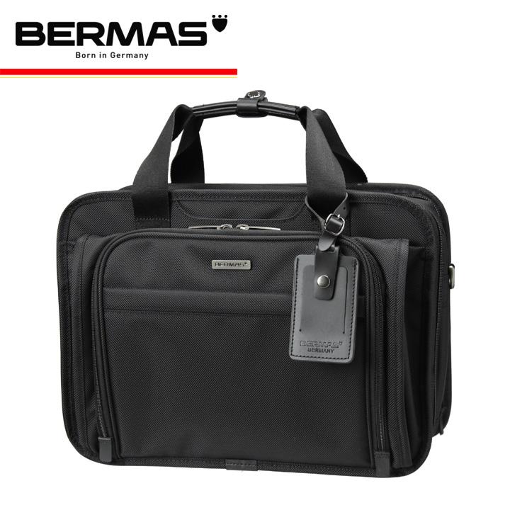 バーマス バッグ ビジネス 2WAY A4 大容量 メンズ 60433 ブリーフケース 多機能 撥水 防汚 拡張 キャリーオン PCケース ダブルファスナー ファンクションギアプラス BERMAS ブラック [1年保証][PO10][bef]