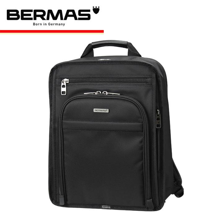 バーマス バッグ ビジネスリュック A4 メンズ 60437 持ち手付き 多機能 撥水 防汚 キャリーオン PCケース ダブルファスナー ファンクションギアプラス BERMAS [1年保証][PO10][bef]