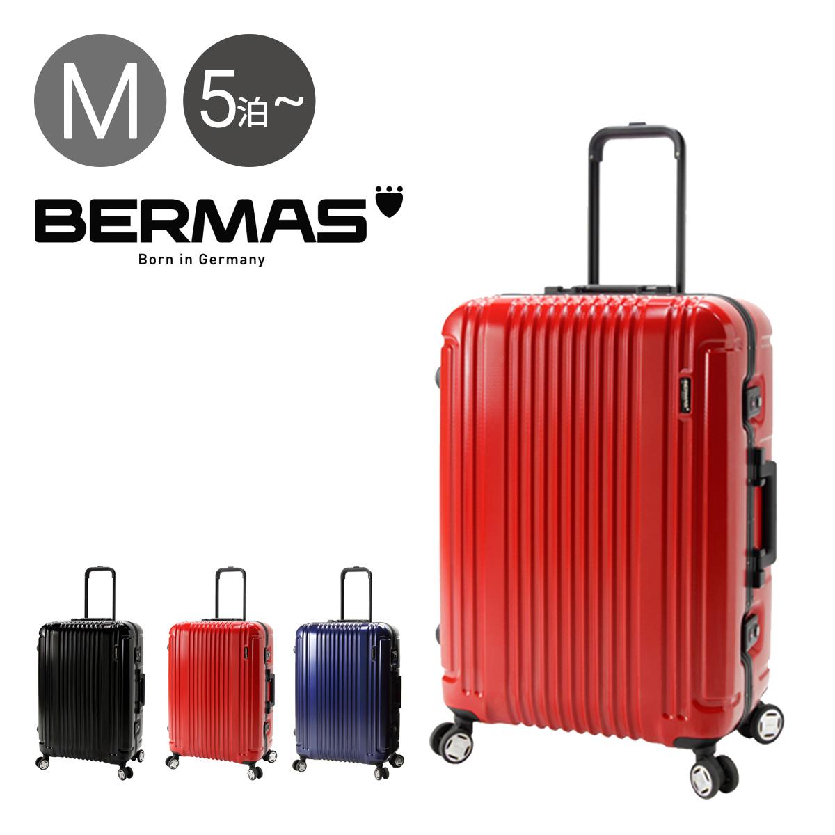 バーマス スーツケース 66L 62cm 4.7kg ハード フレーム プレステージIII メンズ レディース 60281 BERMAS | キャリーケース TSAロック搭載 HINOMOTO【PO10】
