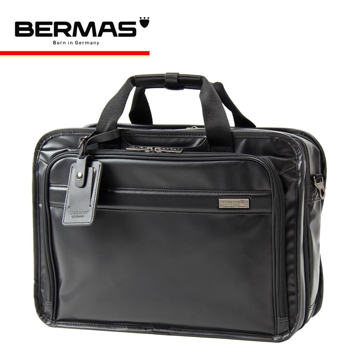 バーマス ブリーフケース 2WAY インターシティ メンズ 60461 BERMAS ビジネスバッグ 撥水 防汚 キャリーオン Lサイズ[PO10][bef]