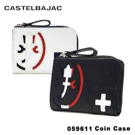 送料無料 カステルバジャック パスケース 小銭入れ メンズ パンセ 引き出物 059611 PO10 bef レザー 捧呈 CASTELBAJAC 本革 ICカードケース 定期入れ