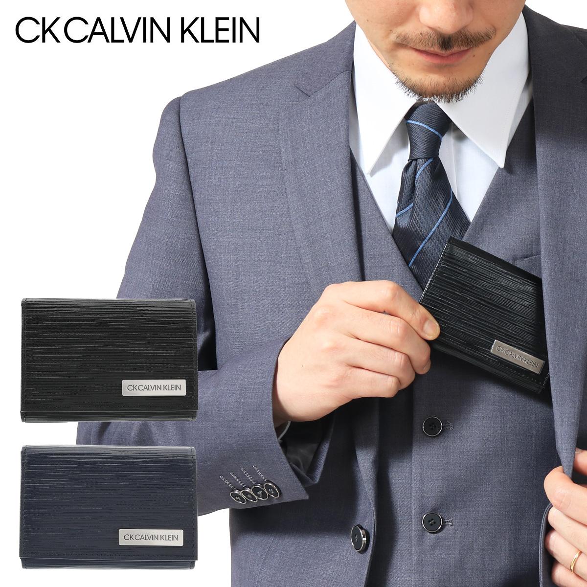 シーケー カルバンクライン 三つ折り財布 タットII メンズ 345155 CK CALVIN KLEIN | 当社限定 WEB限定 別注モデル コンパクト 本革 レザー ブランド専用BOX付き[PO5][即日発送][bef]