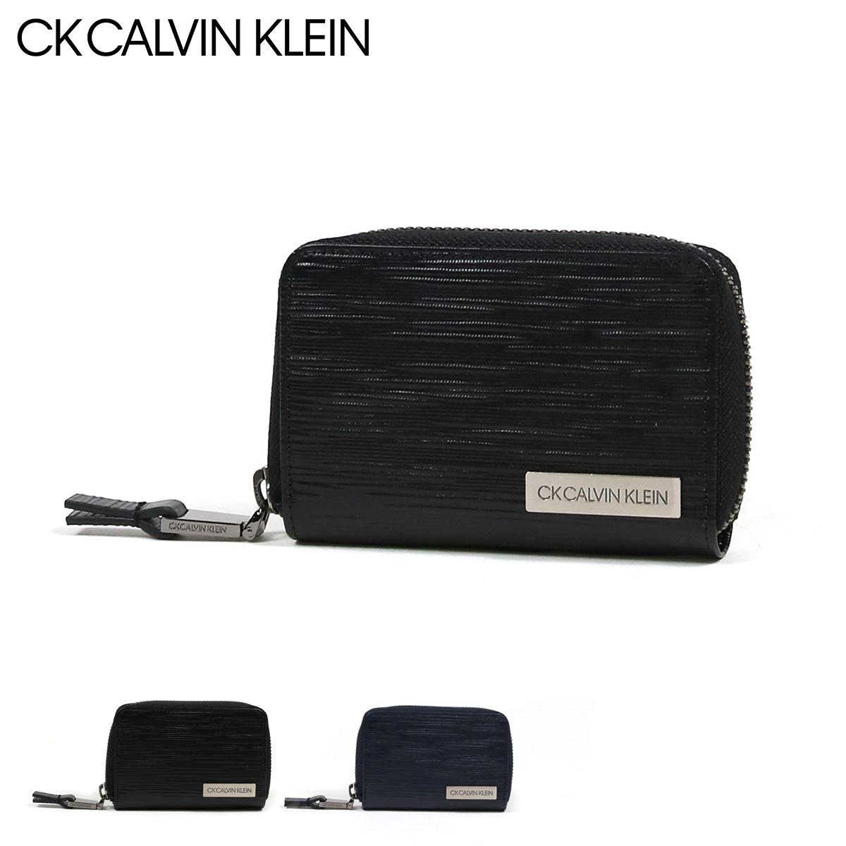 シーケーカルバンクライン キーケース スマートキー タットII メンズ 808612 CK CALVIN KLEIN | ラウンドファスナー 本革 レザー ブランド専用BOX付き