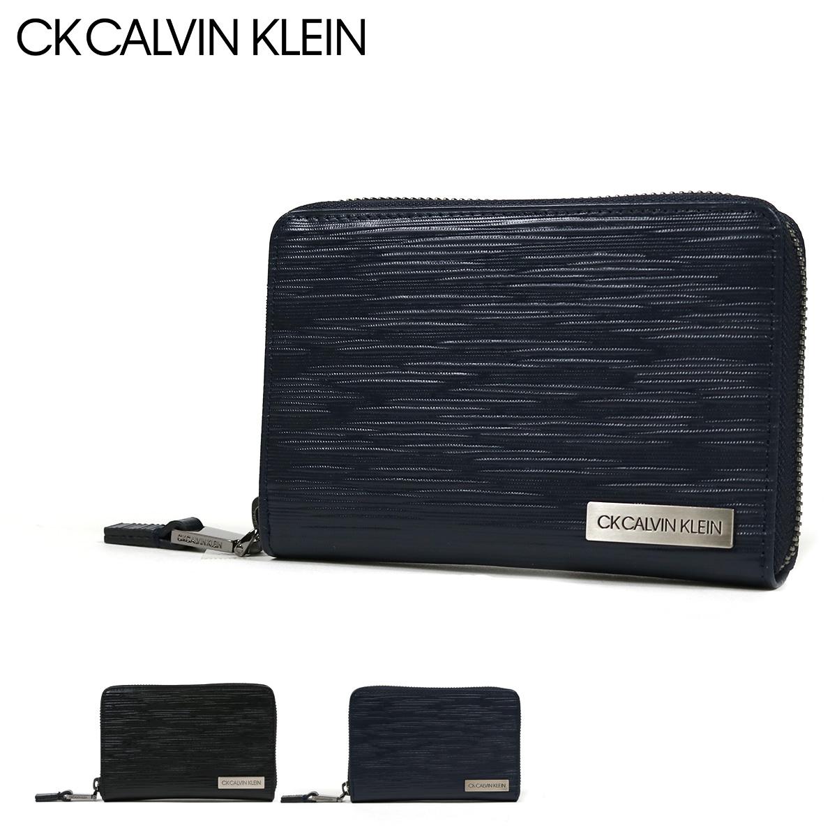 シーケー カルバンクライン 二つ折り財布 ラウンドファスナー タットII メンズ 808615 CK CALVIN KLEIN | 本革 レザー ブランド専用BOX付き[bef][PO5][即日発送]