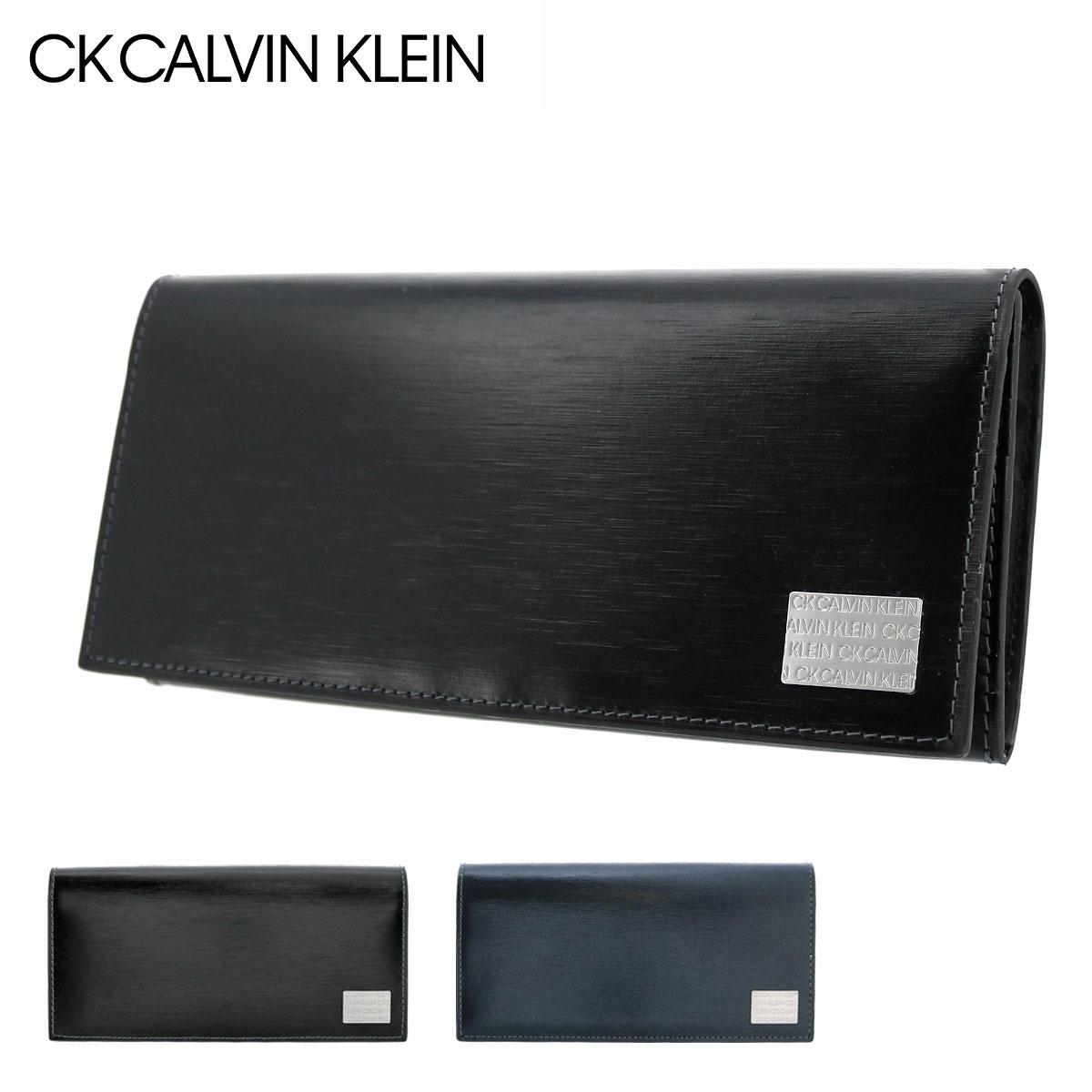 シーケーカルバンクライン 長財布 ヘアラインII メンズ 823654 CK CALVIN KLEIN | 牛革 本革 レザー[PO5][bef]