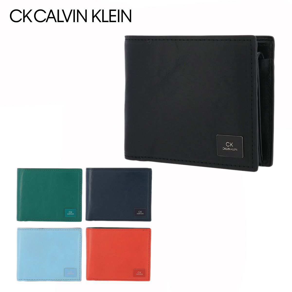 シーケー カルバンクライン 二つ折り財布 ワキシー メンズ 809623 CK CALVIN KLEIN   牛革 本革 レザー[bef][PO5][即日発送]