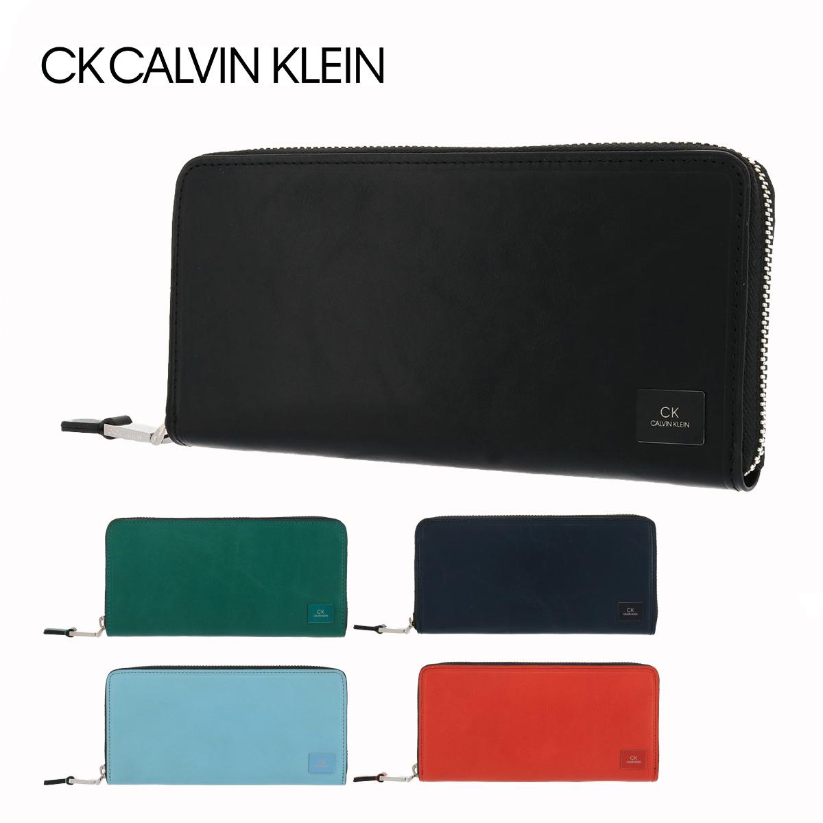 シーケー カルバンクライン 長財布 ラウンドファスナー ワキシー メンズ 809625 CK CALVIN KLEIN | 牛革 本革 レザー[bef][PO5]