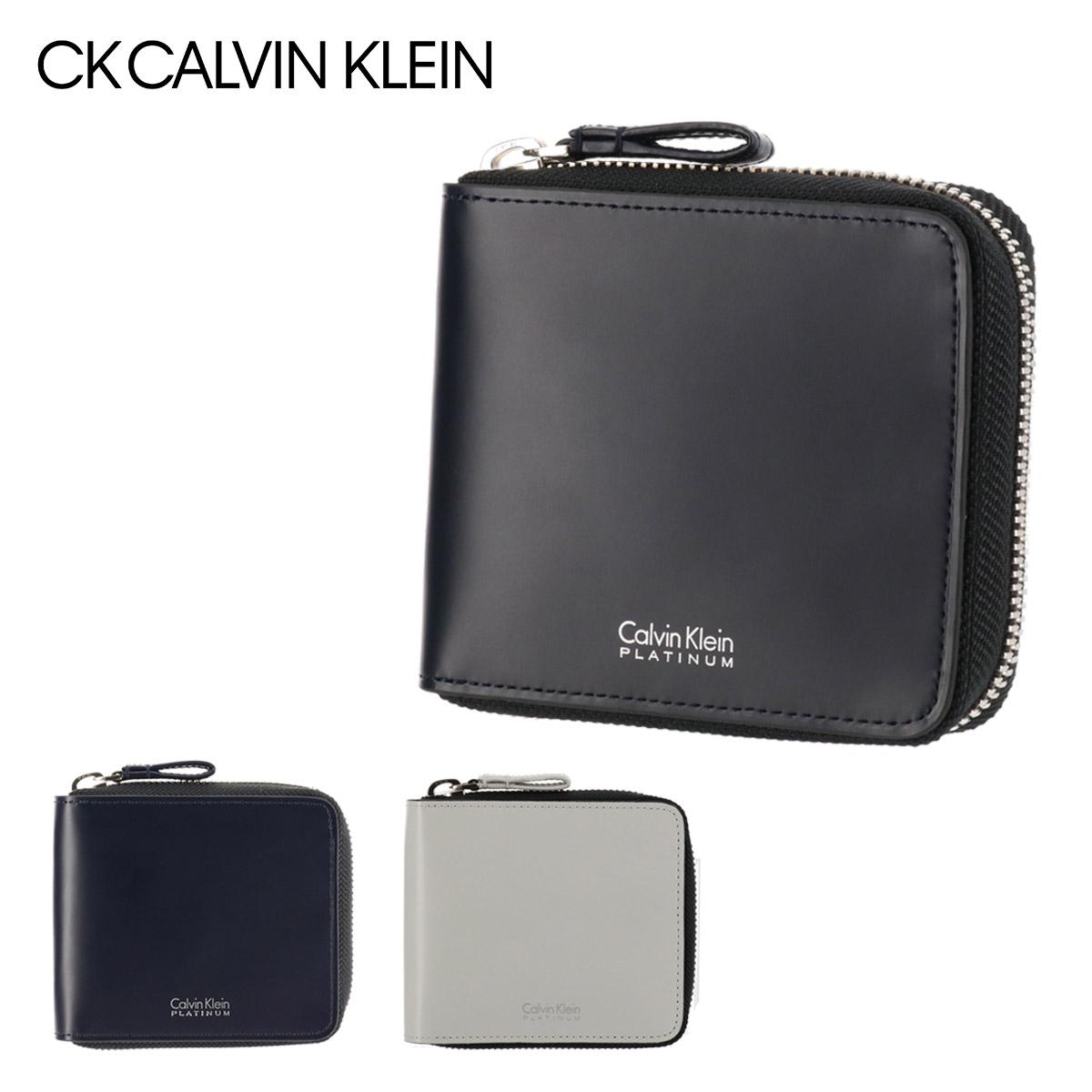 シーケーカルバンクライン 財布 二つ折り メンズ シャウト 813603 CK CALVIN KLEIN 本革 レザー [PO5][即日発送]