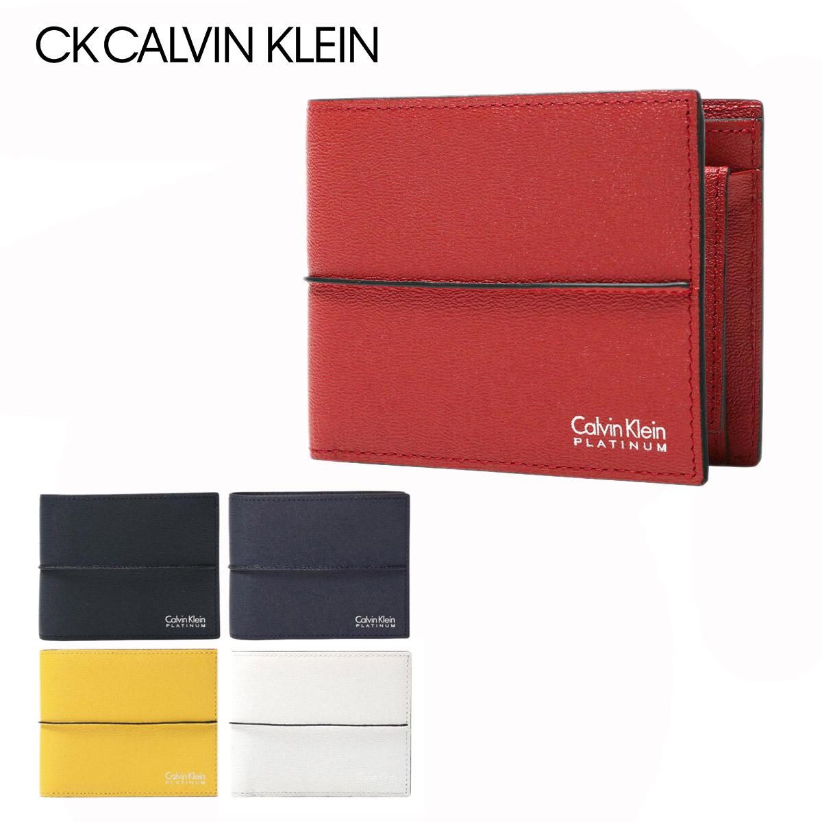 シーケーカルバンクライン 二つ折り財布 メンズ スパイン 819603 CK CALVIN KLEIN 財布 牛革 本革 レザー ブランド専用BOX付き【PO5】
