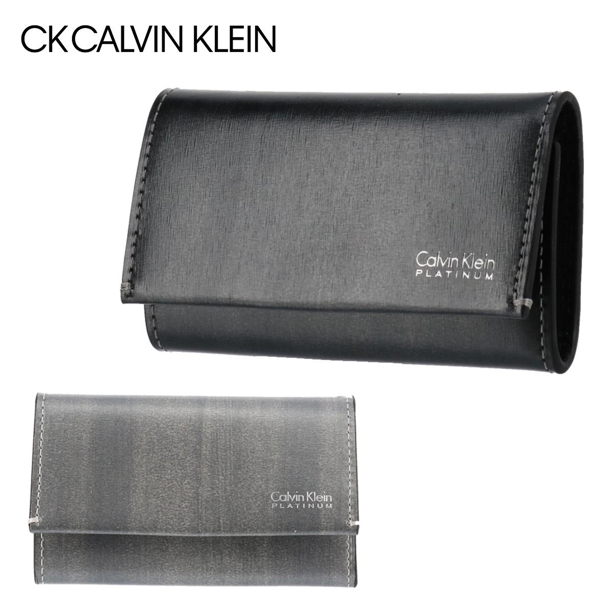 シーケーカルバンクライン キーケース 札入れ 小銭入れ メンズ ボルダー 839613 CK CALVIN KLEIN 多機能 ICカードケース 定期入れ 本革 レザー [PO5][bef][即日発送]