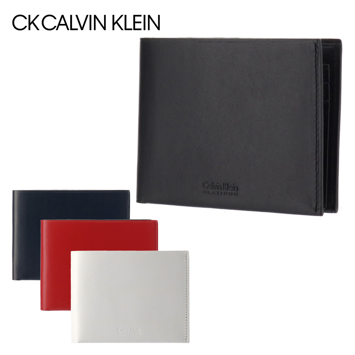 シーケーカルバンクライン 財布 二つ折り 薄型 メンズ フォーカス 852603 CK CALVIN KLEIN 本革 レザー [PO5][bef]