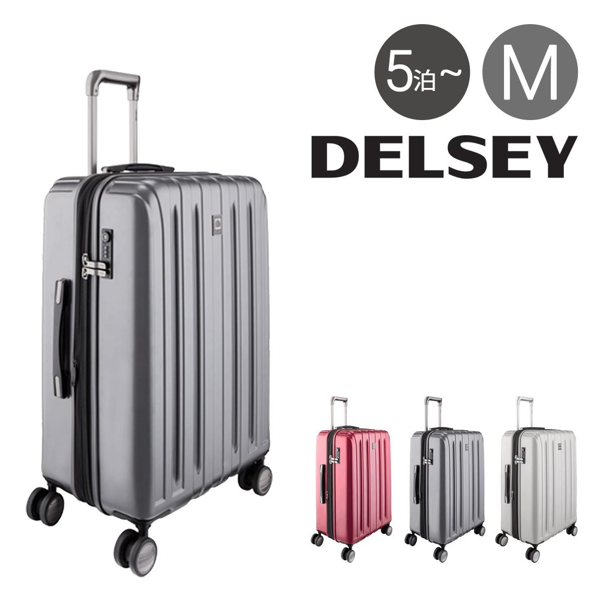 デルセー スーツケース 68L/75L 62cm 4.5kg DVAZ-62 軽量 拡張 サンコー 5年保証 ハード ファスナー TSAロック搭載 キャリーバッグ ビジネスキャリー [PO10][bef][即日発送]