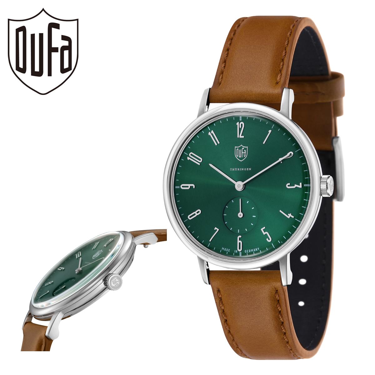 ドゥッファ 腕時計 グロピウス DF-9001-0M メンズ レディース DUFA ステンレススチール ミネラルガラス 本革[PO10]
