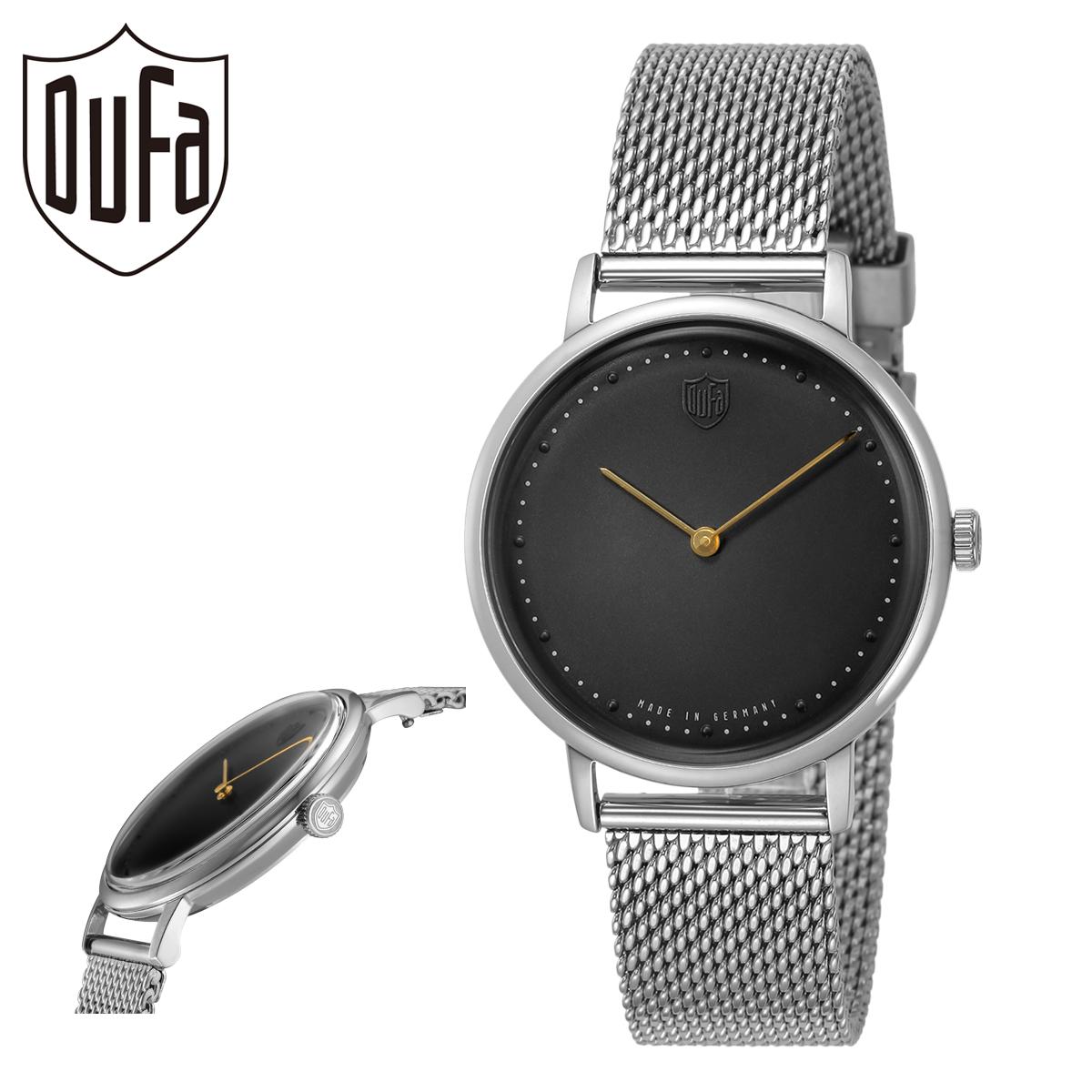 送料無料 ドゥッファ 腕時計 グロピウス2HANDS 新作からSALEアイテム等お得な商品満載 国際ブランド DF-9020-11 メンズ DUFA ミネラルガラス ステンレススチール PO10 bef 本革