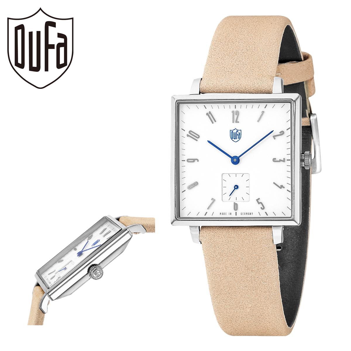 日本メーカー新品 送料無料 ドゥッファ 腕時計 グロピウススクエア DF-9025-01 メンズ bef 本革 PO10 ミネラルガラス ステンレススチール プレゼント DUFA