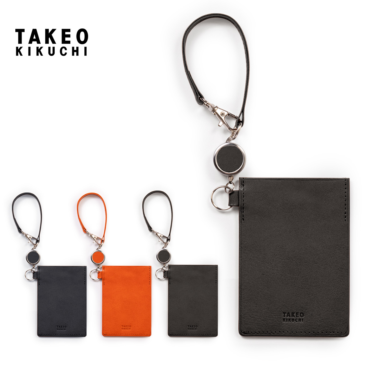 TAKEO KIKUCHI/タケオキクチ リール付きパスケース
