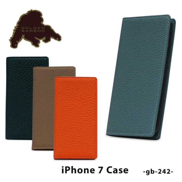 ゴールデンバンブー iPhone8 iPhone7 ケース 手帳型 メンズgb-242 GOLDEN BAMBOO スマホケース スマートフォン カバー 本革 レザー シュランケンカーフ ドイツシュリンク [PO5][bef][即日発送]