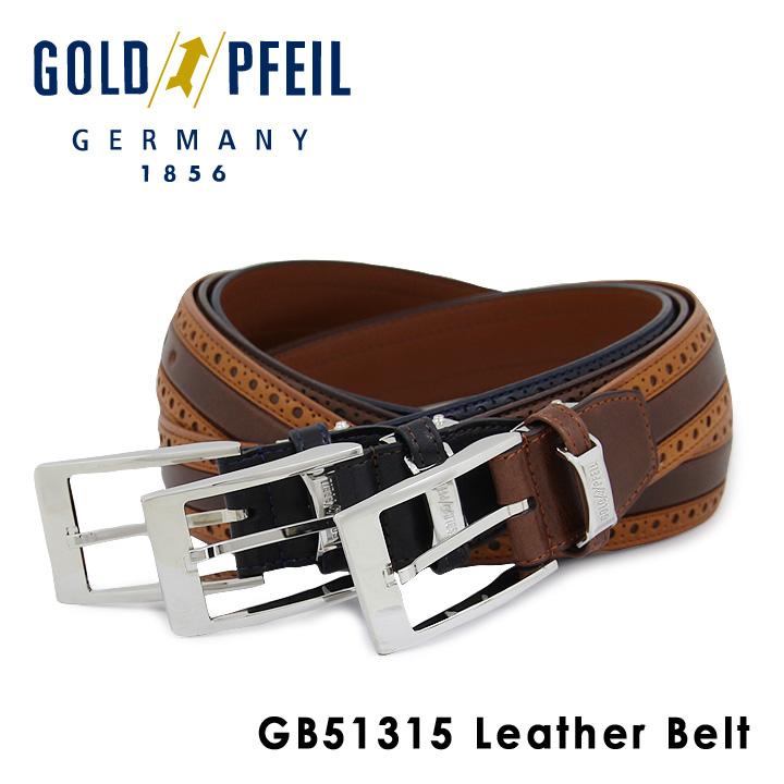 ゴールドファイル ベルト メンズ GB51315 GOLD PFEIL 本革 レザー [PO10][bef]