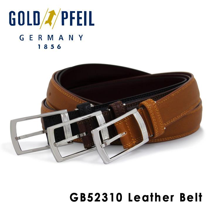 ゴールドファイル ベルト メンズ GB52310 GOLD PFEIL 本革 レザー [PO10][bef]