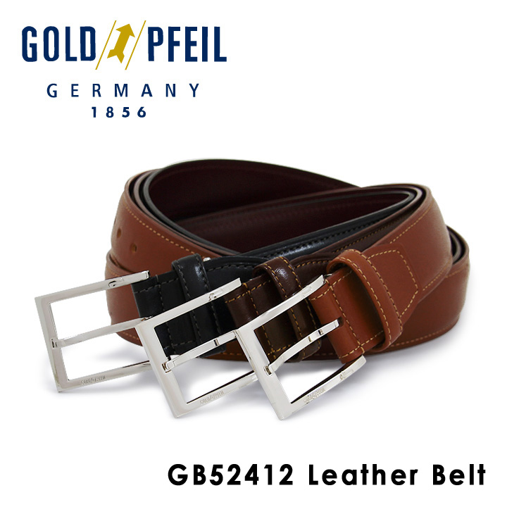 ゴールドファイル ベルト メンズ GB52412 GOLD PFEIL 本革 レザー [PO10][bef]