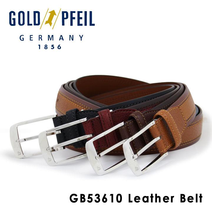 ゴールドファイル ベルト メンズ GB53610 GOLD PFEIL 本革 レザー [PO10][bef]
