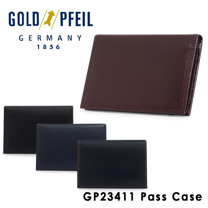 ゴールドファイル パスケース メンズ GP23411 GOLD PFEIL ICカードケース 定期入れ 本革 レザー [1年保証][PO10][bef]