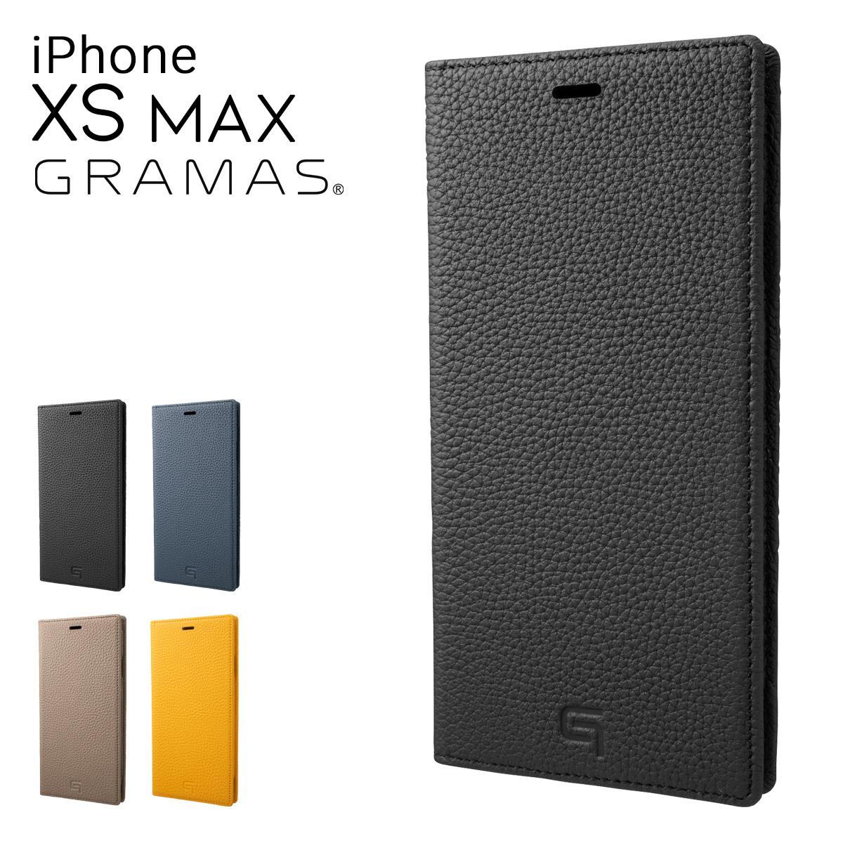 グラマス iPhoneXS Max ケース メンズ レディース GLC-72448 GRAMAS | スマートフォンケース 手帳型 本革[即日発送][bef]