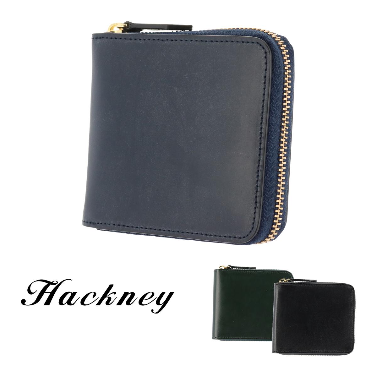 ハックニー 二つ折り財布 ラウンドファスナー メンズ HK-800 Hackney ブライドルレザー イタリアンレザー [PO10][bef]