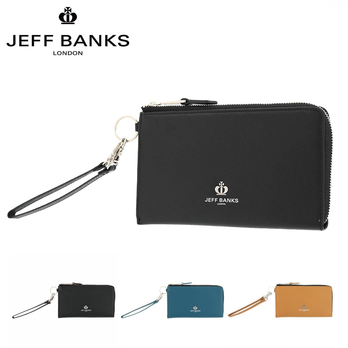ジェフバンクス 長財布 フューチャー メンズ レディース JBP204 JEFF BANKS | スマホ対応 ストラップ付き 牛革 本革 レザー ブランド専用BOX付き [PO10][bef]