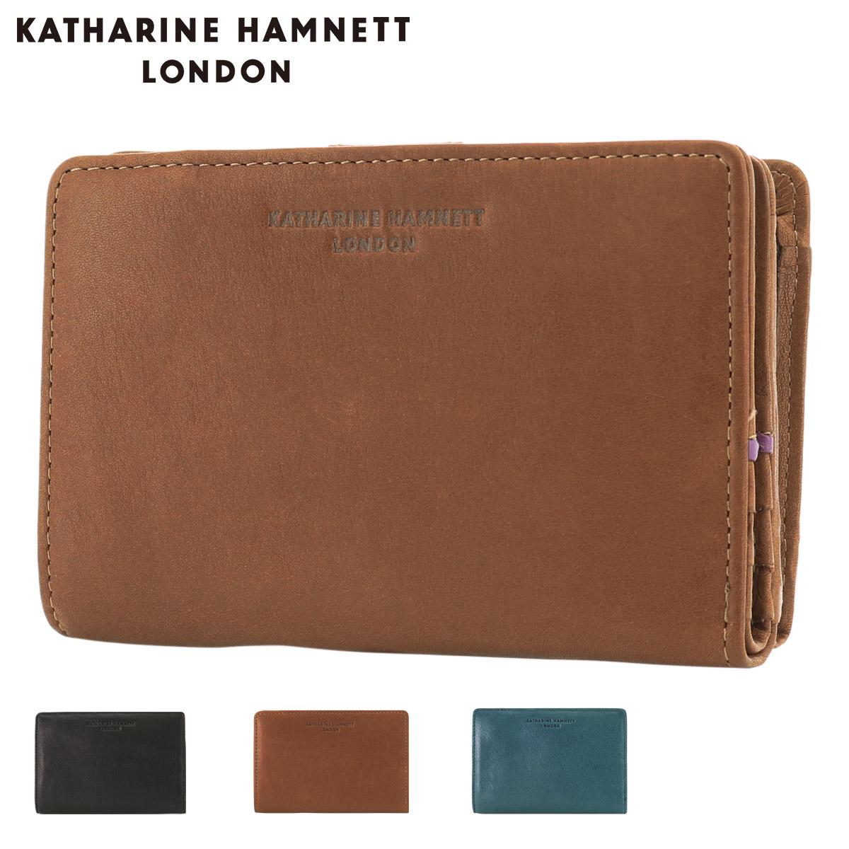キャサリンハムネット 二つ折り財布 ソフト メンズ 490-57004 KATHARINE HAMNETT   牛革 本革 レザー[PO10]