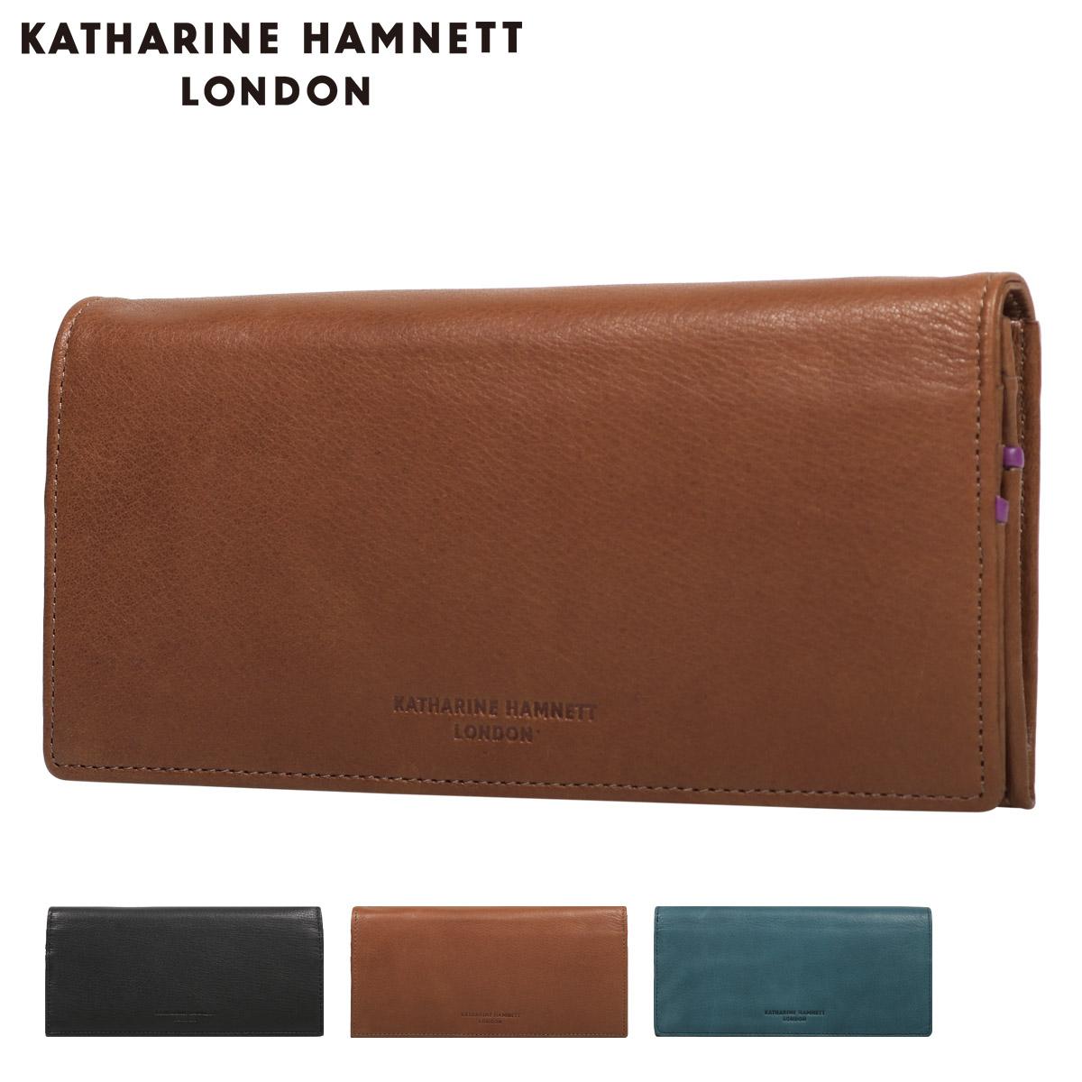 キャサリンハムネット 長財布 ソフト メンズ 490-57006 KATHARINE HAMNETT | 牛革 本革 レザー[PO10]