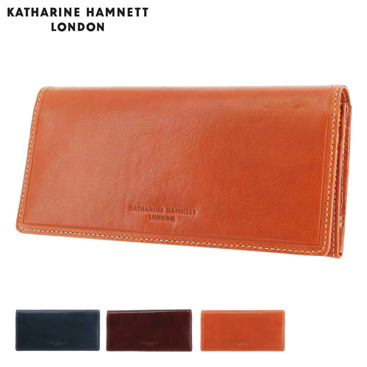 キャサリンハムネット 長財布 かぶせ メンズ LINE MANII 490-58203 KATHARINE HAMNETT | 牛革 本革 レザー[PO10]