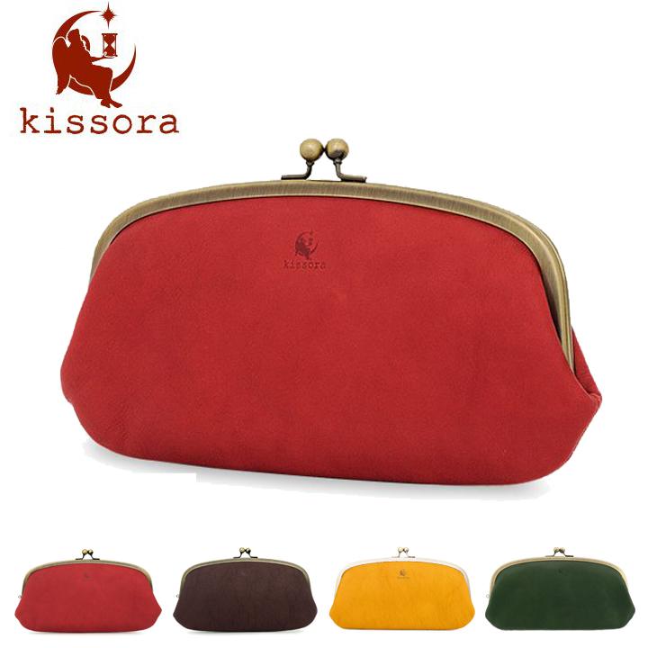 キソラ 長財布 がま口 レディース カウレザー 牛革 本革 日本製 KIPT-063 kissora Celazole セラゾール ナチュラル [bef]