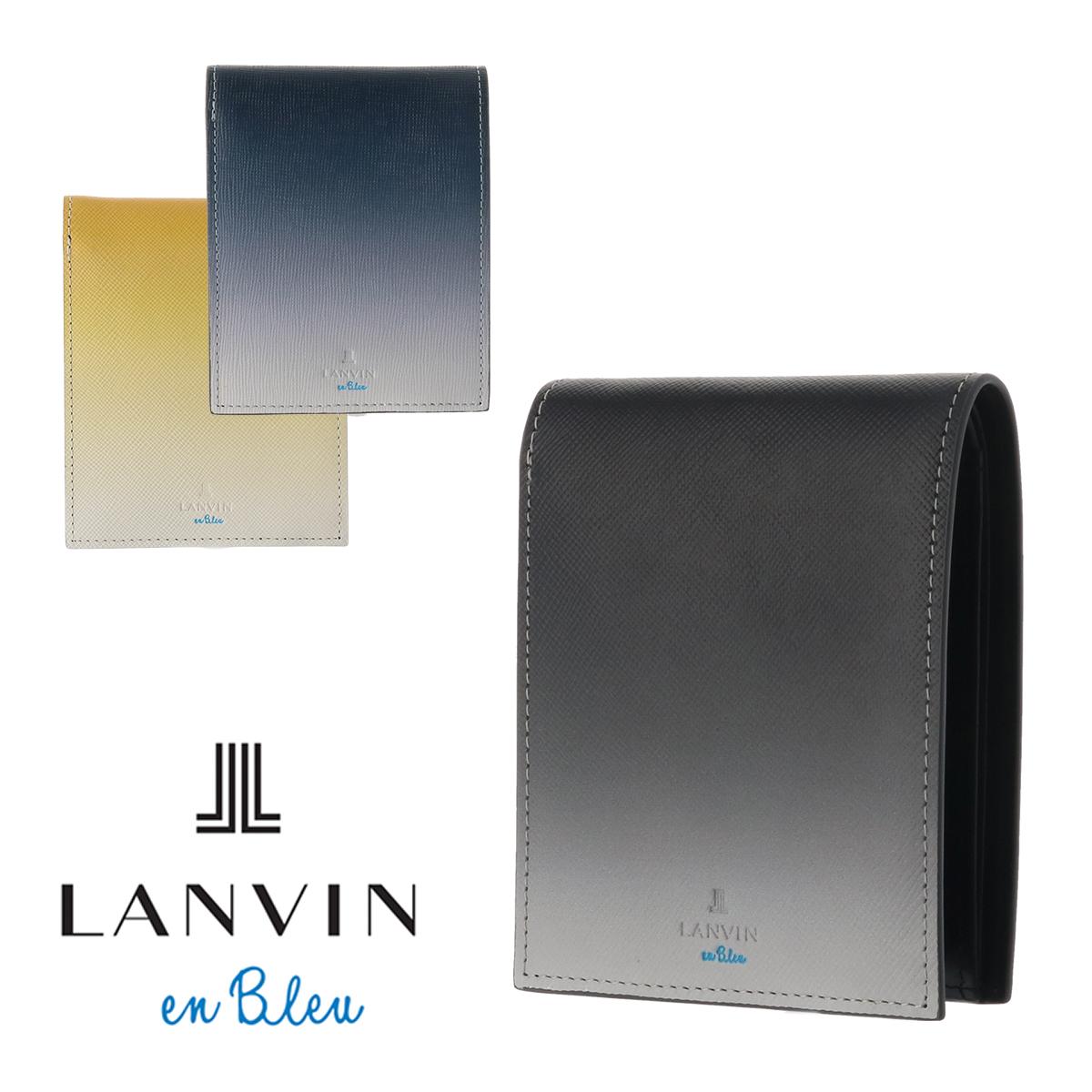 ランバンオンブルー 二つ折り財布 メンズ シェイド 561603 グラデーション 本革 レザー LANVIN en Bleu ブランド専用BOX付き[bef][PO10]