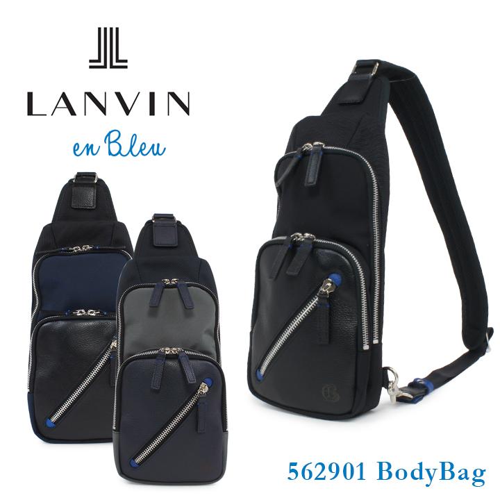 ランバンオンブルー ボディバッグ メンズ 日本製 ダブルシックス 562901 ワンショルダーバッグ LANVIN en Bleu [bef]